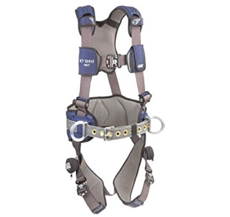 Used DBI SALA Exofit Positioning Safety Harness Iron Worker Tower Read add **