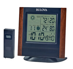 Bulova Forecaster Weather Station Dual Alarm Digital Wall/Desk Clock B1708