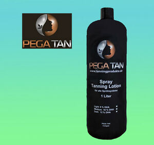 Airbrush/Spray Tanning Direktbräuner Lotion 1 Liter 16% DHA (dunkel)