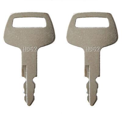 2 Hyundai Excavator Ignition Keys Hd62 Fits Bobcat 316 Nagano Sunward Thomas