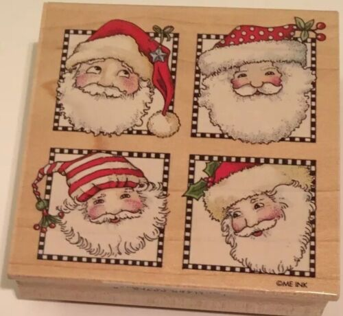 All Night Media Santa Stamps Rubber Stamp 849J05 Winter Holiday Crafts Cards - $1.80