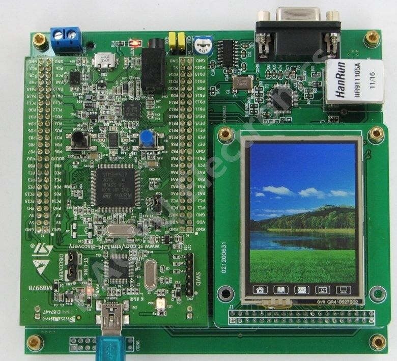 stm32f4discovery motherboard network rs232 lcd touch sd can stm