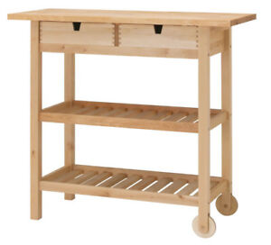 Wooden Kitchen Island - $75 ($139 in store price)