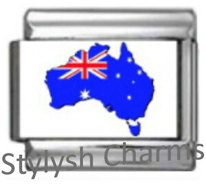 AUSTRALIA-AUSSIE-MAP-SOUTHERN-CROSS-FLAG-Photo-Italian-Charm-9mm-1x-TT042-Link