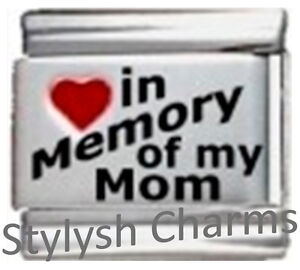IN-MEMORY-OF-MOM-RH-Laser-Italian-Charm-9mm-1-x-IM017-Single-Bracelet-Link