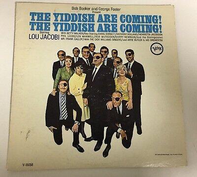 THE YIDDISH ARE COMING basic Cast Lou Jacobi Verve V-15058 Lp Record