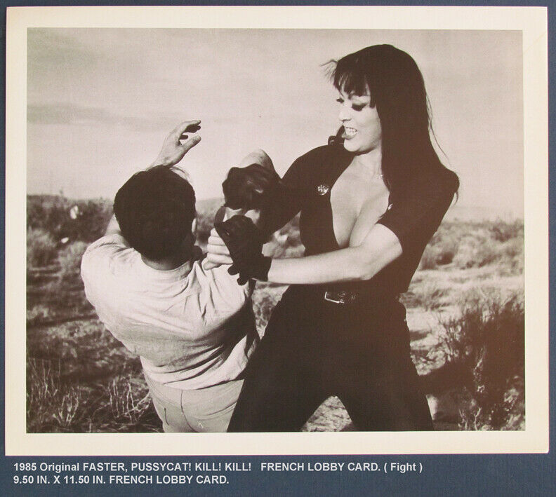 "1985 Original FASTER, PUSSYCAT! KILL! KILL!   FRENCH LOBBY CARD "" FIGHT """