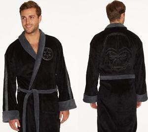 Star-Wars-Darth-Vader-Embossed-Fleece-Bathrobe-Black-Men-039-s-Dressing-Gown-Robe
