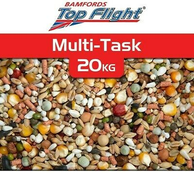 Pigeon Food Seed Multi Task Bamfords Top Flight 20kg Racing Pigeons BMFD DS