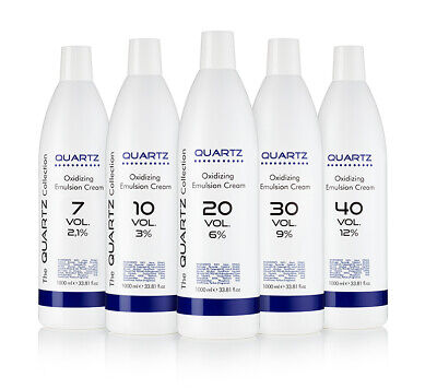QUARTZ PEROXIDE OXYDANT CREME 7 to 40 VOLUME 2.1%to12% 1 LITRE 1000ml,QUALITY✔UK