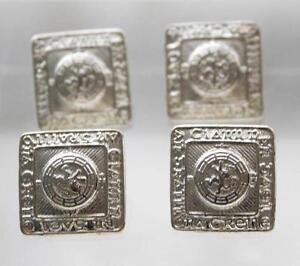 4 x silver tone highland argyll buttons prince charlie scotland scottish 24mm