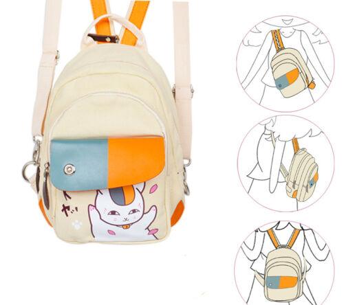 Anime Natsume Yuujinchou Student School Backpack Kawaii Shoulder Messenger Bag