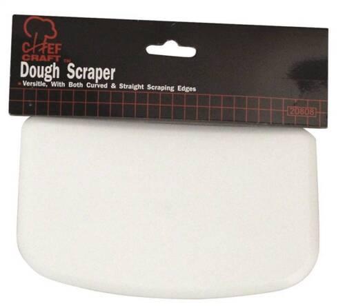 Chef Craft 20808 Flexible Dough Scraper, 6 in L x 4 in W, Plastic, White