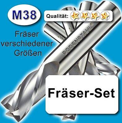 FräserSet D=6+8+10mm Schaftfräser für Metall Kunststoff Holz lang Z=4