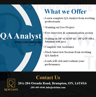 QA ANALYST TRAINING PROGRAM WITH JOB ASSISTANCE| ALL TOOLS COVER