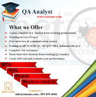 SOFTWARE QA ANALYST TRAINING PROGRAM WITH PLACEMENT ASSISTANCE