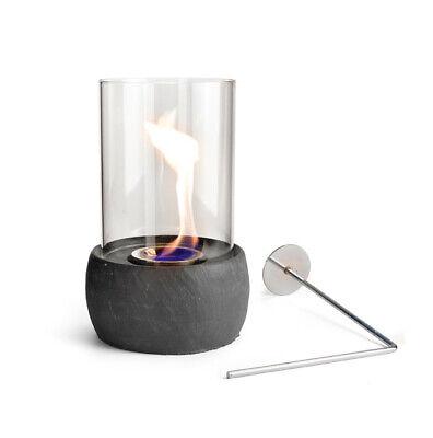 LaVida© Ellie Rund Tischkamin Glas Kamin Feuerstelle Indoor Outdoor +1L Ethanol