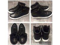 Men's black hi-top boots 7/41