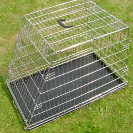 Steel Sloping Dog Cage