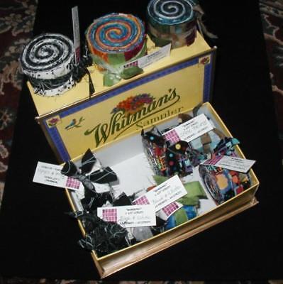 "BON BONS 1 1/2"" Jelly Roll Strips  MINI QUILT TOPS or BLOCKS + Free Bag Pattern!"