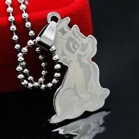 Silver Stainless Steel CartoonDog Pendant