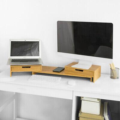 SoBuy Monitorerhöhung für 2 Monitore Monitorständer Bildschirmständer BBF04-N