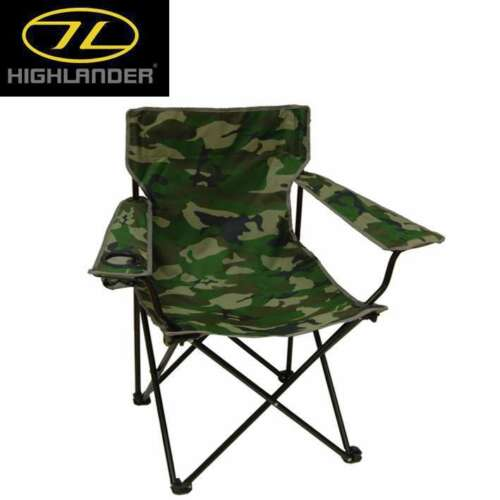Highlander Moray Camo Light Folding Chair for Camping Festivals Fishing