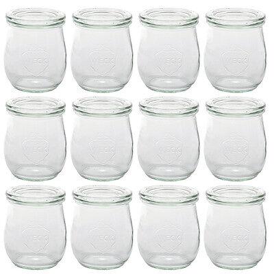 12x Weck Einweckglas Tulpe 220 ml Gläser Glas + Deckel Einmachglas Einkochglas