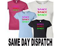 ladies fit dance disco ceroc dancing t shirt