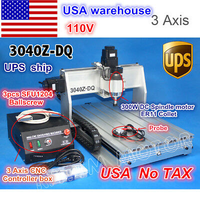 Usa Ship3 Axis 3040 Z-dq Desktop Ball Screw Cnc Engraving Milling Machine 110v