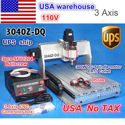Usa Ship3 Axis 3040 Z-dq Desktop Ball Screw Cnc Engraving Milling Machine 110v