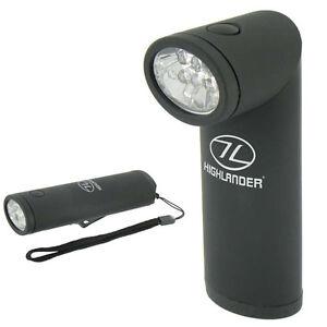 Highlander Kadar Torch / Flashlight - black - multicolour 6 LED angled head