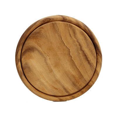 Kesper Fleischteller 20442 Holz Akazie rund 25x1,5cm Schneidebrett Servierteller