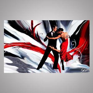 Quadri moderni astratti dipinti a mano olio su tela tango for Dipinti a mano su tela