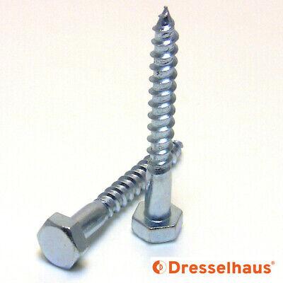 Schlüsselschrauben DIN 571 Sechskant Holzschrauben Holz Schraube Wiener M 6 8 10