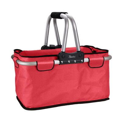 Genius Einkaufskorb faltbar rot Einkauf Korb Tasche Shopper Einkaufstasche
