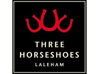 CHEF DE PARTIE - THREE HORSESHOES, LALEHAM (Near Staines) LIVE-IN up to £25K