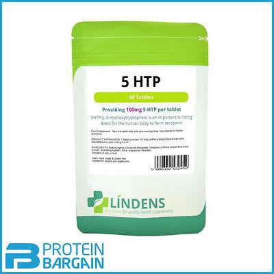 5 HTP 100mg Tablets (60 Pack) Lindens Health Seretonin Helps Depression Insomnia