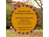 Relaxation Yoga Workshop in Shrewsbury