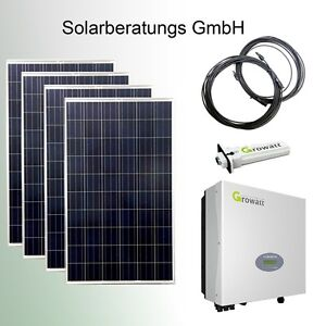 solaranlage 1040 watt eigenverbrauch growatt solarmodul solar plug play ebay. Black Bedroom Furniture Sets. Home Design Ideas