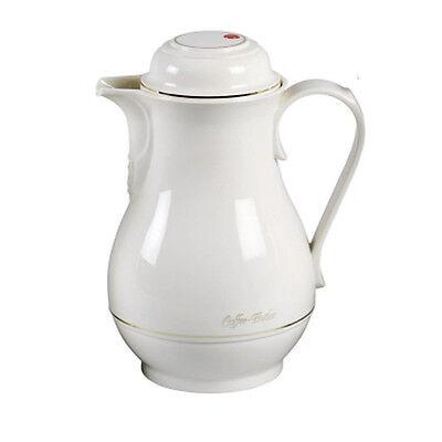 ROTPUNKT Isolierkanne 1,0 Liter weiß Kanne Kaffee Tee Thermoskanne