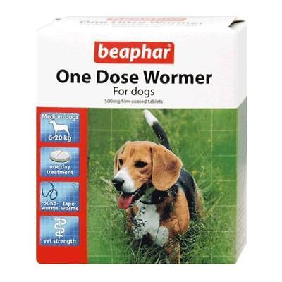 Beaphar One Dose Wormer Tablet Worming for medium dogs  (2 tablet pack)