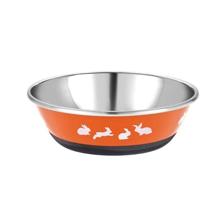 Classic+Posh+Paws+Stainless+Steel+Bunny+Dish+Assorted%C2%A0+350ml