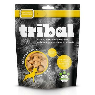 TRIBAL CHICKEN FLAXSEED Treats Premium Dog GF Natural Skin Coat Healthy Biscuits