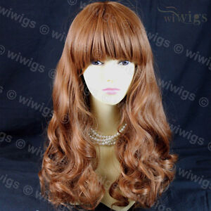 Sexy-Gorgeous-Layered-Light-Auburn-Wavy-Long-Ladies-Wigs-skin-top-WIWIGS-UK