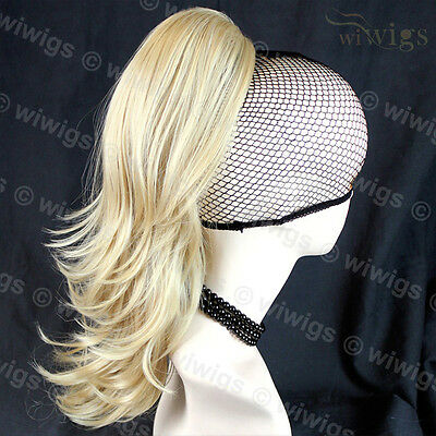Blonde Mix Ponytail Extension Hairpiece Wavy Hair Piece UK