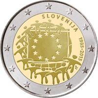 2 Euro Commemorativa Slovenia 2015 Bandiera Europea 1985-2015 Molto Rara Fdc Unc -  - ebay.it
