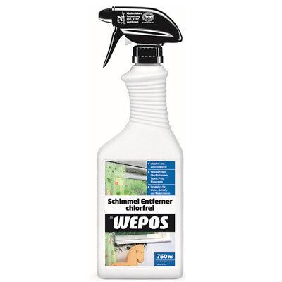 Wepos Schimmelentferner 750 ml chlorfrei Anti-Schimmelspray Schimmelreiniger