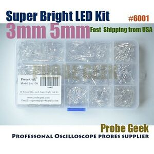 10values-500pcs-3mm-5mm-Super-Bright-Water-Clear-LED-Assortment-Kit-6001