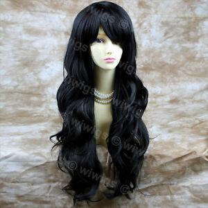 NEW-STYLE-Sexy-Beautiful-Long-Layered-wavy-Jet-Black-Ladies-Wigs-from-WIWIGS-UK